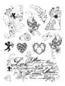 Viva Decor Clear Silicone A5 Stamp Set - Love - 4003 020 00